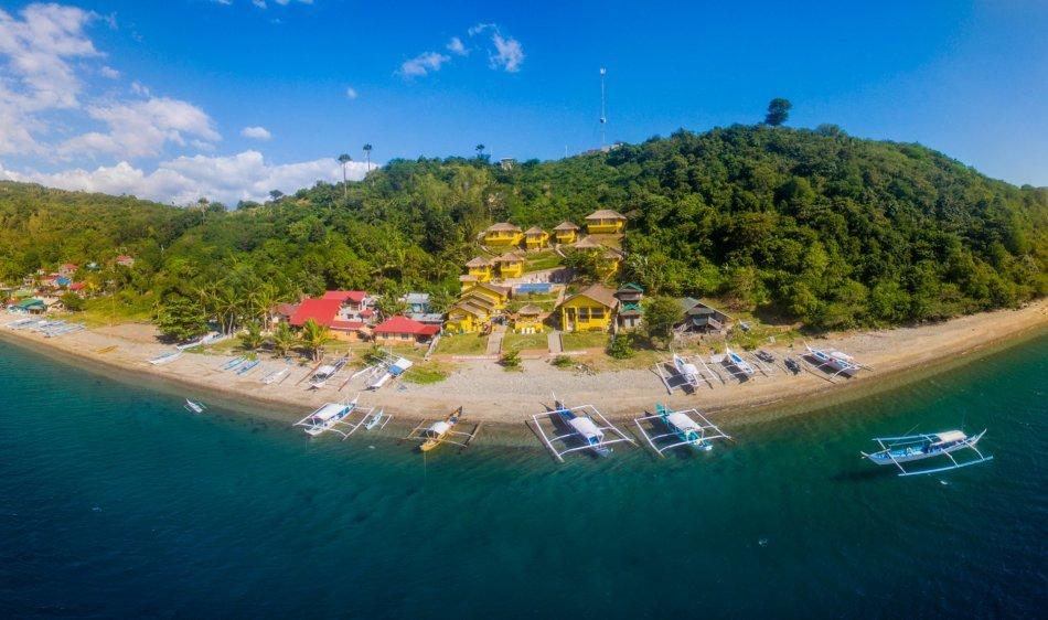 Buceo Anilao Beach & Dive Resort - Deluxe Cabana met zeezicht